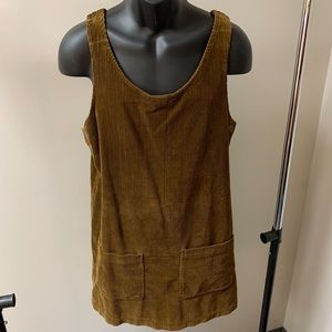 Sigrid Olsen Brown Corduroy Dress size M